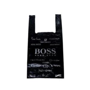 Мешок-майка «BOSS» 100шт. чёрный, ПНД, 300+160х550х0.025мкм Солпласт (1/100) БЗ008062