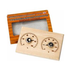 Станция банная открытая «Прямоугольная», СБО-2Т, термометр 18x11x1.5см, коробка (1/10) БЗ008121