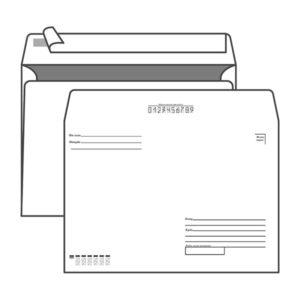 Конверт почтовый С4 KurtStrip, арт.70502, 229х324мм,  «Кому-куда» с подсказом, силиконовая лента, внутренняя запечатка, клапан прямой, 90 г/м2 (50/250) БЗ008169