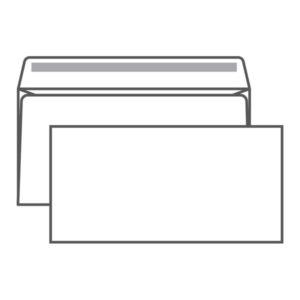 Конверт почтовый Е65 Ряжская печатная фабрика, 110х220мм,  «Кому-куда», без окна, отрывная лента, 80г/м (100/1000) БЗ008170
