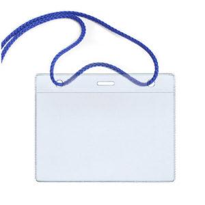 Бейдж горизонтальный пластиковый на синем шнурке 100х75мм (размер вставки 85х55мм) «ДПС», арт.1426.Г-101 (1/10) БЗ008173