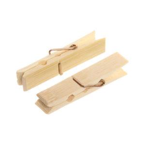 Прищепка бельевая деревянная Н-1-002 1х14шт. «AST», усиленная, пакет (1/180) БЗ008187