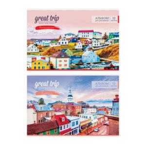 Альбом для рисования 12л. А4 «ArtSpace» Путешествия. Great trip, на скрепке, арт.А12ф_26320 (1/12) БЗ008222