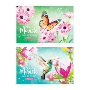 Альбом для рисования 24л. А4 «ArtSpace» Цветы. Miracle, на скрепке арт.А24ф_26346 (1/6) БЗ008250
