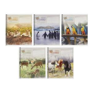 Тетрадь 48л. А5 клетка на гребне «ArtSpace» Животные. Wild world card, арт.Т48спк_24496 (1/8) БЗ008265