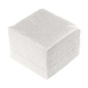 Салфетки бумажные, белые, однослойные 100шт.»ЭКО», 24х24см, без штрих-кода (1/30) БЗ008367