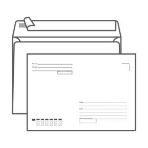Конверт почтовый С5 Ряжская печатная фабрика, 162х229мм,  «Кому-куда», с подсказом, без окна, отрывная лента, 80г/м (100/1000) БЗ008433