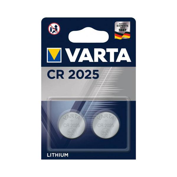Батарейка Varta Lithium CR2025 3V BL2 (2/10) БЗ008439