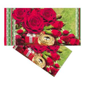 Конверт для денег 39967 красные розы 16.5×8.5 см (10) БЗ008522