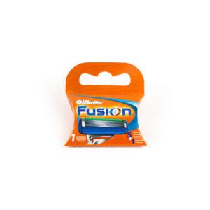 Сменные кассеты для бритья Gillette Fusion 1шт. EvroPack, пять лезвий, смазывающая полоска (1/10) БЗ008530