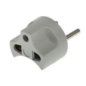 Переходник электрический серый,круглый, 220В, 16А «STD» (1/10) БЗ008547
