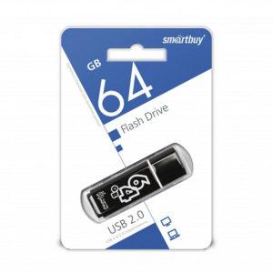 USB 2.0 флеш-накопитель 64Gb Smartbuy Clossy Series черная,колпачек,58х19мм[SB64GBGS-K] БЗ008568