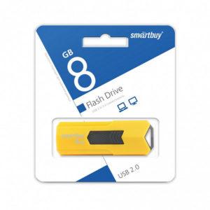 USB 2.0 флеш-накопитель 8Gb Smartbay Stream Series желтая,выдвижная,58х19мм [SB8GBST-Y] БЗ008624