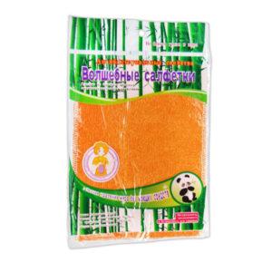 Салфетка для уборки бамбуковая 1шт. 23х18см «Волшебные салфетки» арт.S-1423/BLJ-2628, в инд. пакете, 5 цветов, вес: 16гр. (1/10/300) БЗ008665