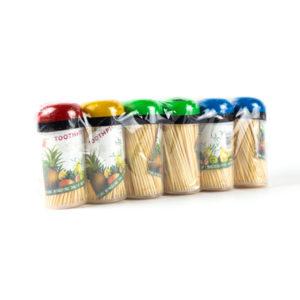 Зубочистки в пластиковом стакане, 140шт. «TOOTHPICK» арт.S-6401, деревянные (12/480) БЗ008679