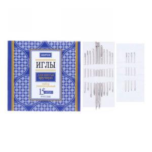 Набор игл для шитья вручную 20шт. Маячок арт.S-2916 (1/50/3000) БЗ008681