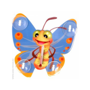 Термометр жидкостный, бытовой, уличный «INBLOOM» Бабочка, арт.473-048, на присосках, упаковка пакет, 15х13х3.5см (1/72) Г0000019