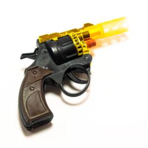 Револьвер под пистоны 10.5см «ТКР-007В8» пластиковый,пакет,10.5х7.2х2.2см (288/576) Г0000025