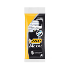 Бритва одноразовая BiC Metal 5шт. одно лезвие, металлическая защитная полоска, в пакете (1/30) Г0000178