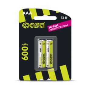 Аккумулятор ФАZА R03/AAA 600mAh Ni-Mh BL2 (20/100) [HR03-600-B2] Г0000296