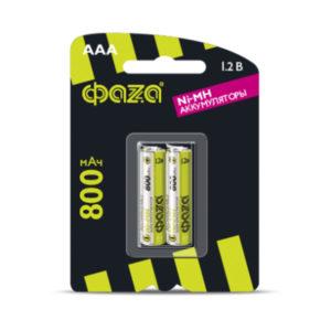 Аккумулятор ФАZА R03/AAA 800mAh Ni-Mh BL2 (20/100) [HR03-800-B2] Г0000297
