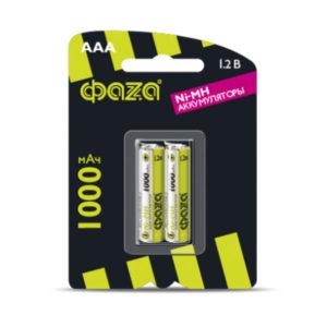 Аккумулятор ФАZА R03/AAA 1000mAh Ni-Mh BL2 (20/100) [HR03-1000-B2] Г0000298