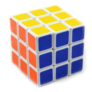 Головоломка кубик, 5.6см, формула 3х3х3 «Кубик Рубика» арт.№:851А, белый пластик, прокрашеные плитки, в коробке, с 6 лет, 5,6х5.6х5.6см, вес: 52,2гр. (6/360) Г0000575