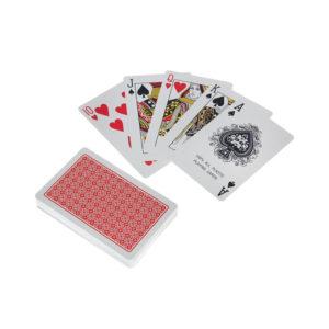 Карты игральные атласные с пластиковым покрытием «Poker А-36» №9817/AZ1-26, [Дама червей 36листов в колоде],250гр/м2, в плёнке, вес: 51.6гр. (12/144) Г0001411