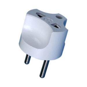 Переходник электрический белый, круглый, 220В, 10А «Элсет» (1/10/50/2000) Г0001455