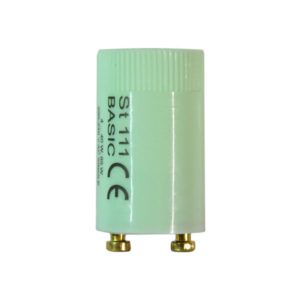 Стартер для люминесцентных ламп OSRAM ST 111 BASIC, 4…40W: 65W 220-240V, AC Single Operation, 21.5 х 40.3мм, диэлектрический макролоновый корпус (1/25) Г0001663
