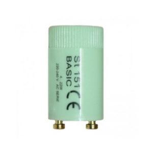 Стартер для люминесцентных ламп OSRAM ST151 BASIC, 4-22W, 220-240V AC Series Operator, 21.5 х 40.3мм, диэлектрический макролоновый корпус (1/25) Г0001664