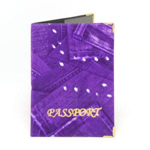 Обложка на паспорт ПВХ тиснение «Джинс» арт.ОД5-10 (10/800) О0000081