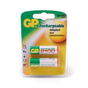 Аккумулятор GP Rechargeable R6/AA 2100mAh Ni-Mh BL2 (20) [210AAHC] О0000099