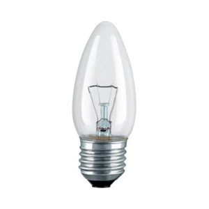Лампа накаливания общего назначения В36 Калашниково ДС230-40Вт E27 свеча,гофра,прозрачная (100) О0000133