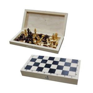 Игра «Шахматы обиходные» арт.Ш-1, деревянные, в доске, d=26мм, 290х145х45мм (1/30) О0000149