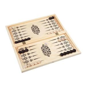 Игра «Нарды» арт.Н-2, средние, в доске, деревянные фишки, фанера, 500х250х34мм (12) О0000151