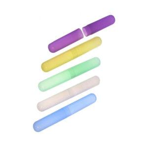 Футляр для зубной щётки вертикальное соединение «Runis» арт.6-136, пластиковый, 3 цвета, 20.5х3х2.3см (6/460) О0000268