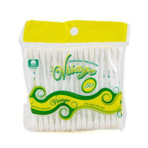 Русалочка Ватные палочки пластиковые, в пакете 50шт. «Visage», арт.074985 (24/96) О0000487