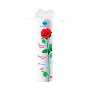 Русалочка Ватные диски 120шт.»Super Soft» арт.070208, круглые, пакет, с розой на упаковке (1/24) О0000512