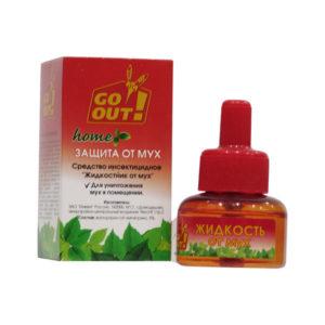 GO OUT Жидкость от мух 30 дней 30мл. без запаха, красная коробка (36) [280762] О0000580