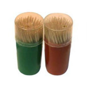 Зубочистки в пластиковом стакане, 80шт. «Extra», арт.KWN210D, деревянные, березовые (10/240) О0000704
