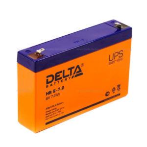 Аккумулятор Delta HR 6-7.2 (6V 7.2 Ah) 151х50х100мм,1.95кг (20) О0000746