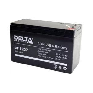 Аккумулятор Delta DT 1207, 12V, 7Ah, 151х65х102мм, 2.3кг (20) О0000750