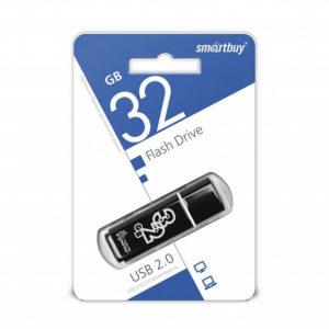 USB 2.0 флеш-накопитель 32Gb Smartbay Clossy Series черная,колпачек,58х19мм [SB32GBGS-К] О0001094