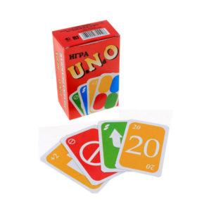 Карточные игра, малая «UaNdO» (Уно) арт.1232, 108 карт, 7х4.8см (1/50) О0001232