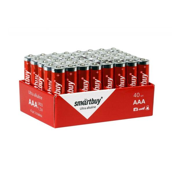 Батарейка Smartbuy Ultra Alkaline LR03/AAA box40 S4 (40/960) [SBBA-3A40S] О0001258
