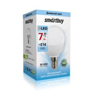 Лампа светодиодная P45 Smartbuy 7W/60Вт E14 4000К, холодный свет, матовая колба, 80х45мм (10/50) [SBL-P45-07-40K-E14-A] О0001312