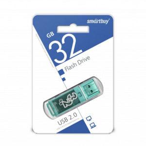 USB 2.0 флеш-накопитель 32Gb Smartbay Clossy Series зеленая,колпачек,58х19мм[SB32GBGS-G] О0001366