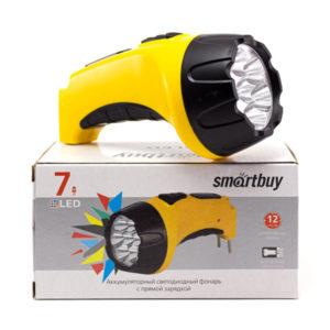 Фонарь ручной аккум. Smartbuy Accu SBF-86-Y 7 диодов,0.8Ah,4V, ABS-пластик,блистер (60) О0001454