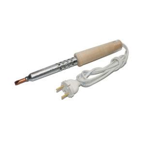 Электропаяльник деревянная ручка, не сменный стержень ЭПСН-80/220 [г.Псков] 80 Вт 220В, в пакете (1/100) О0001601